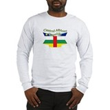 Central Africa flag ribbon Long Sleeve T-Shirt