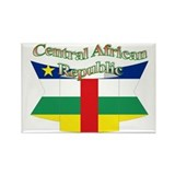 Central Africa flag ribbon Rectangle Magnet