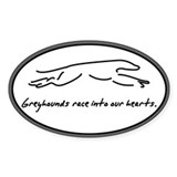 Race Into Greyhound Oval Decal