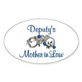 Deputy's Mother in Law Oval Decal
