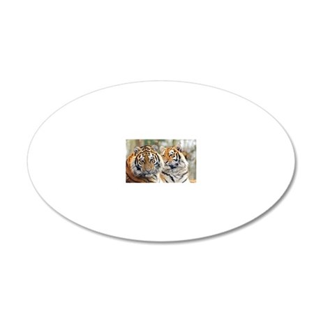 Tigers 20x12 Oval Wall Decal