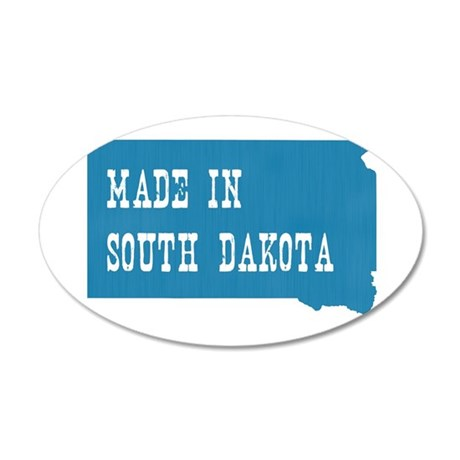 South Dakota 35x21 Oval Wall Decal