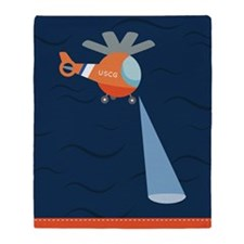 Coast Guard Search And Rescue Throw Blanket