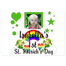Baby photo St. Patricks Day Invitations