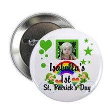 "Baby Photo St. Patricks Day 2.25"" Button"