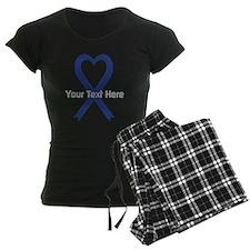 Personalized Dark Blue Ribbo Pajamas