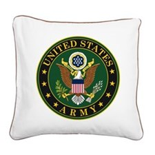 U. S. Army Symbol Square Canvas Pillow