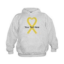 Personalized Yellow Ribbon Heart Hoodie