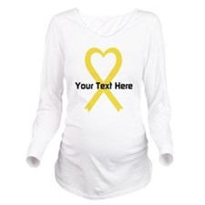 Personalized Yellow Long Sleeve Maternity T-Shirt