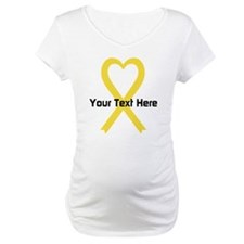 Personalized Yellow Ribbon Heart Shirt