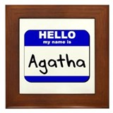 hello my name is agatha  Framed Tile