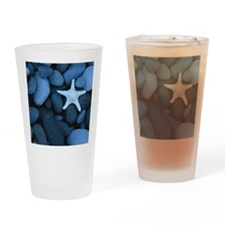 Blue_Starfish Drinking Glass