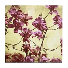Beautiful magnolia art Tile Coaster