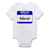 hello my name is adriel  Onesie
