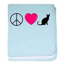 Peace Love Cats baby blanket