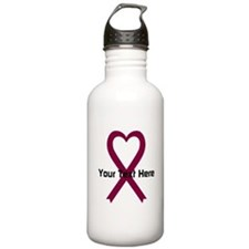 Personalized Burgundy Water Bottle