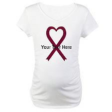 Personalized Burgundy Ribbon Hea Shirt