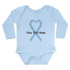 Personalized Light Blu Long Sleeve Infant Bodysuit