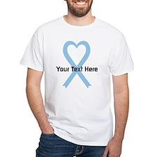 Personalized Light Blue Ribbon Heart Shirt