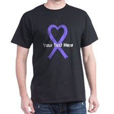 Personalized Lavender Ribbon Heart T-Shirt