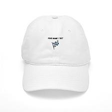 Custom Checkered Flag Baseball Baseball Cap