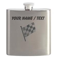 Custom Checkered Flag Flask