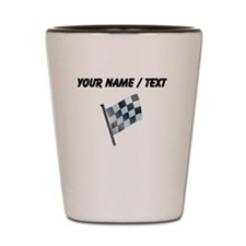 Custom Checkered Flag Shot Glass
