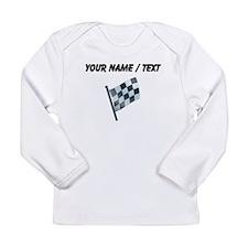 Custom Checkered Flag Long Sleeve T-Shirt