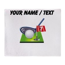 Custom Golf Icon Throw Blanket