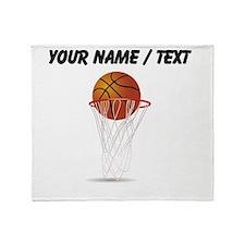 Custom Basketball Hoop Throw Blanket