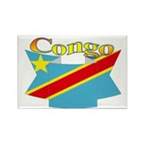 Congolese flag ribbon Rectangle Magnet