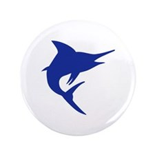 "Blue Marlin Fish 3.5"" Button"