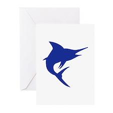 Blue Marlin Fish Greeting Cards (Pk of 20)