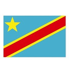 Congo DRC flag Postcards (Package of 8)
