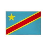 Congo DRC flag Rectangle Magnet