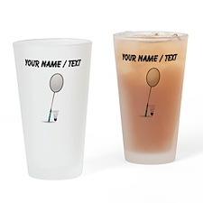 Custom Badminton Drinking Glass