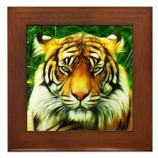 Tiger is Not Amused Framed Tile