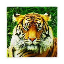 Tiger is Not Amused Queen Duvet