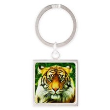 Tiger is Not Amused Keychains