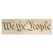 """""""We the People"""" Bumper Stickers"""