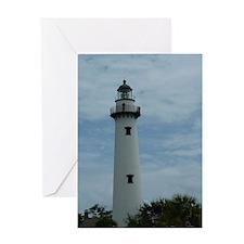 St. Simons Island Georgia Lighthouse Greeting Card