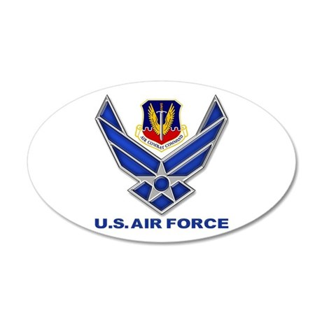 Air Combat Command 20x12 Oval Wall Decal