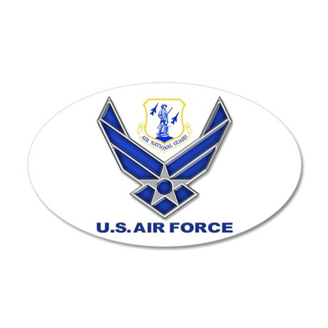 Air National Guard 20x12 Oval Wall Decal
