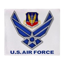 Air Combat Command Throw Blanket