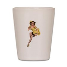 Yellow Lady Shot Glass