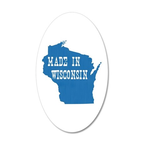 Wisconsin 35x21 Oval Wall Decal