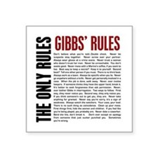 "Gibbs' Rules Square Sticker 3"" x 3"""
