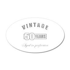Vintage 50th Birthday 20x12 Oval Wall Decal