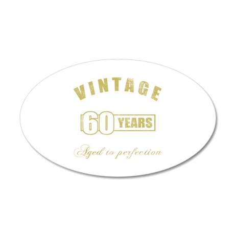Vintage 60th Birthday 35x21 Oval Wall Decal