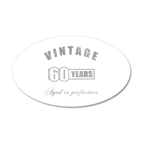 Vintage 60th Birthday 20x12 Oval Wall Decal